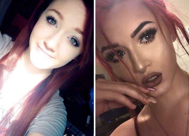 Mujeres que fueron a un curso de maquillaje