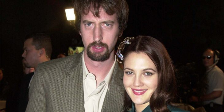 Drew Barrymore y Tom Green jóvenes