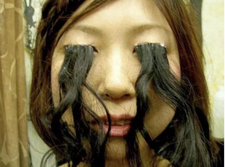 ojos pelo