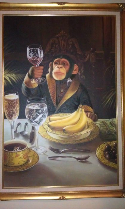 pintura d eun mono elegante