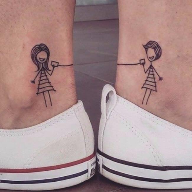 hermana tatuaje amiga
