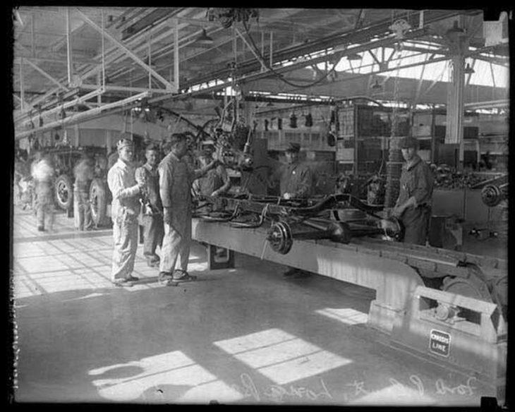 La primera fábrica de carros Ford, Estados Unidos