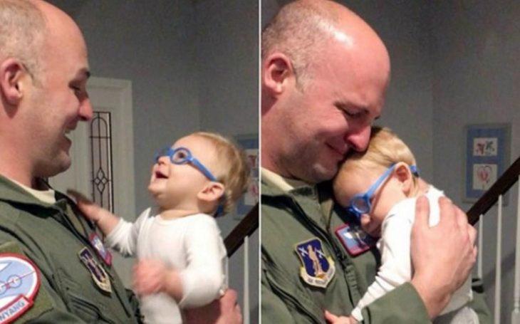 niño abrazo papá