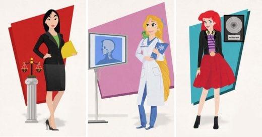 Cover princesas de Disney tienen empleos