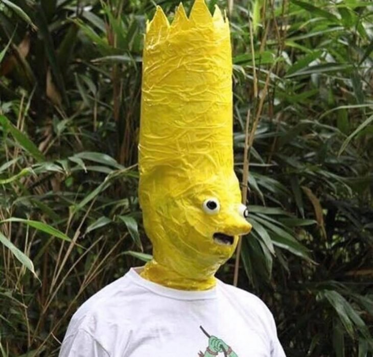 cosplay feo de bart simpson