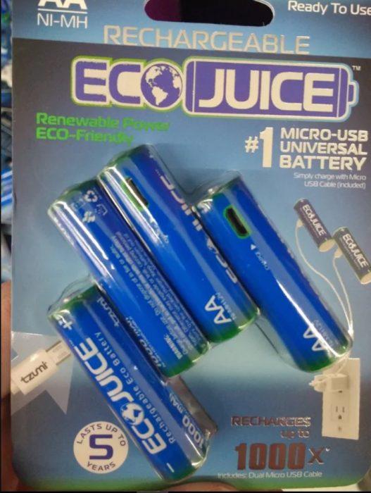 baterías azules