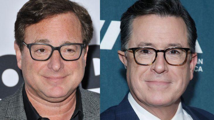 Bob Saget y Stephen Colbert