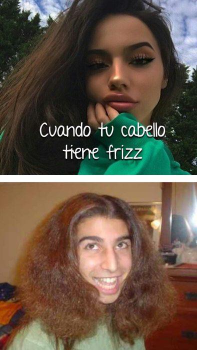 cabello esponjado cursi vs real