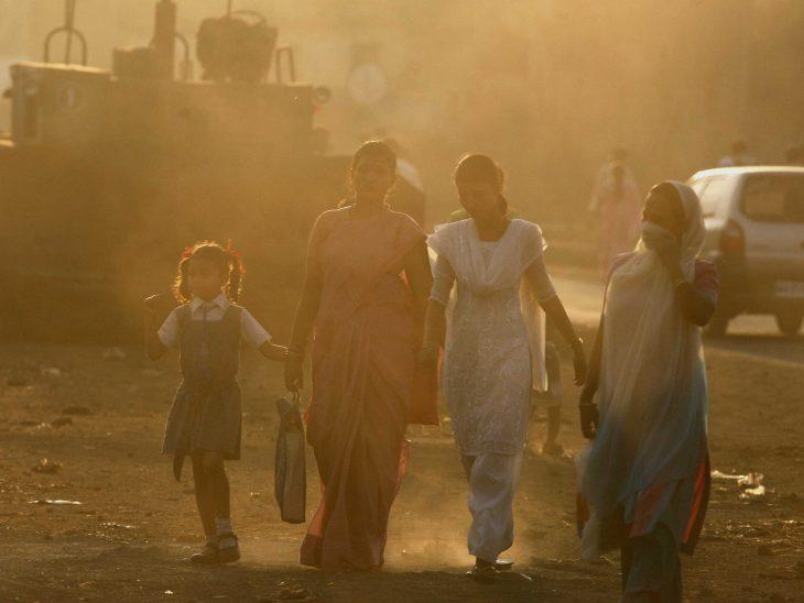 contaminación del aire en la india