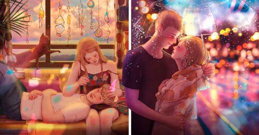 Cover Bellas ilustraciones que te harán sentir lo que es estar enamorado