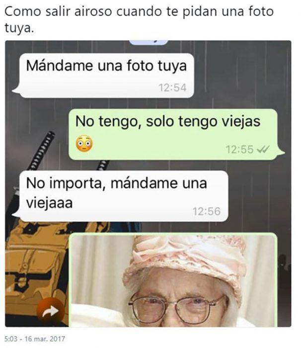 captura de pantalla de una viejita en whatsapp