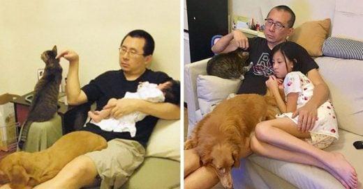 Cover Padre e hija se toman la misma foto durante 10 años