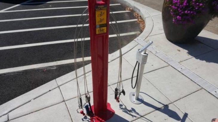 Estación para bicicletas gratuita
