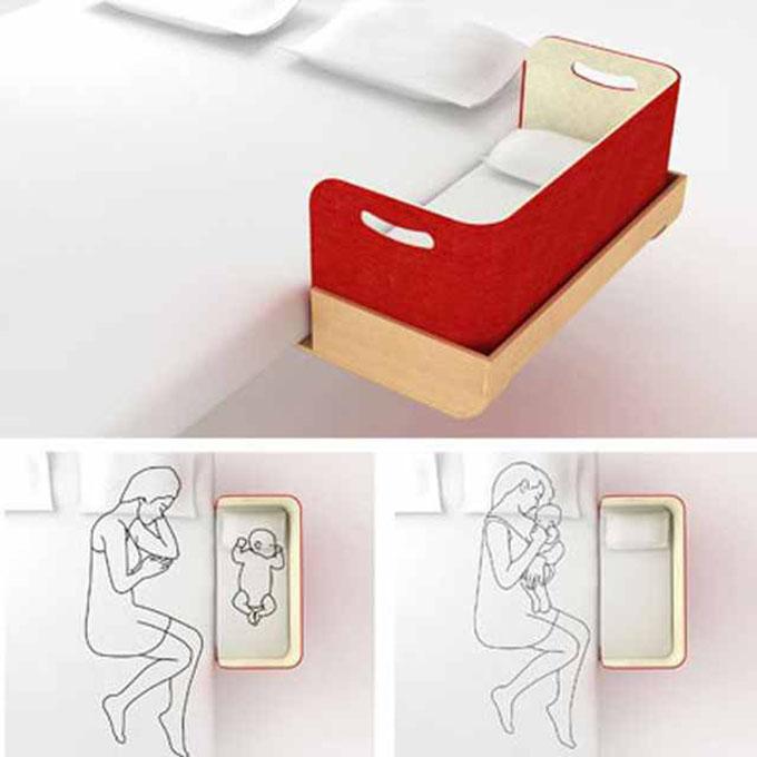 Extensión de cama para bebé