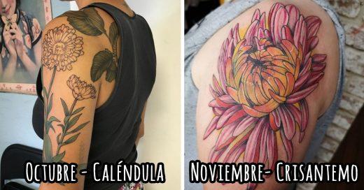 Cover tatuajes de flores según el mes en que naciste