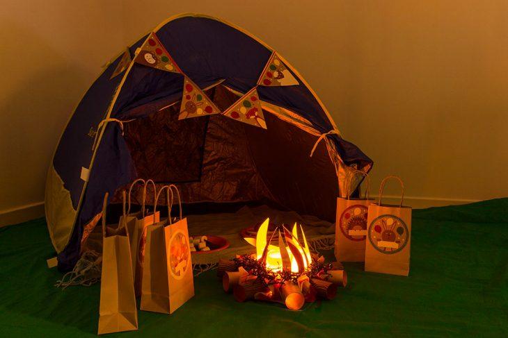 campamento al interior de la casa