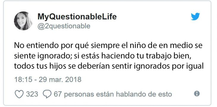 tuit hijo de en medio ignorado