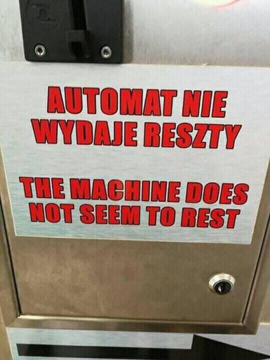 anuncio mal traducido en inglés