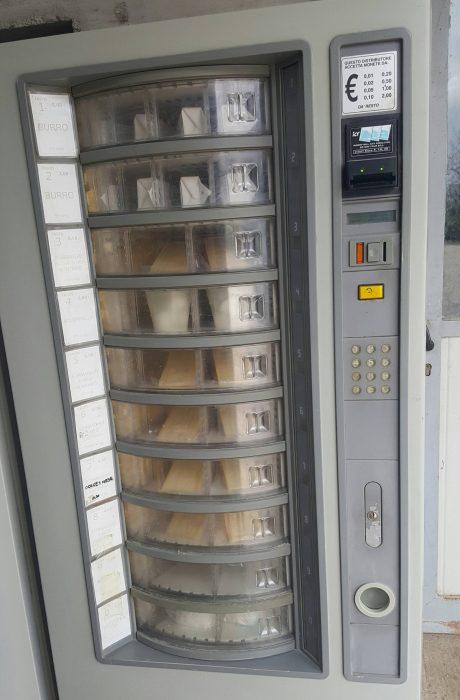 Máquina vendedora de quesos