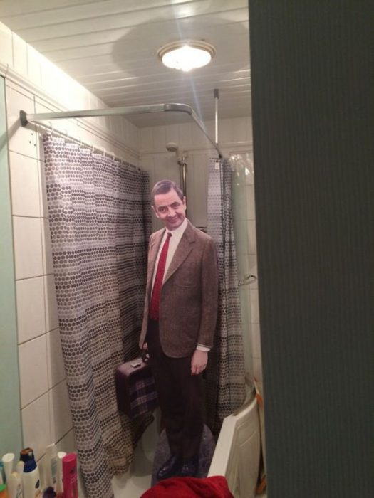 Mr Bean de tamaño natural