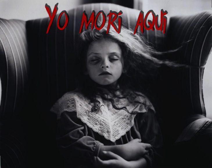 foto postmortem de una niña