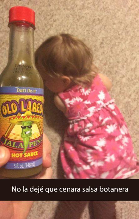 niña y salsa botanera