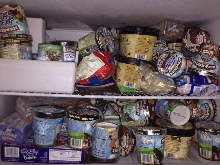 congelador lleno de helados