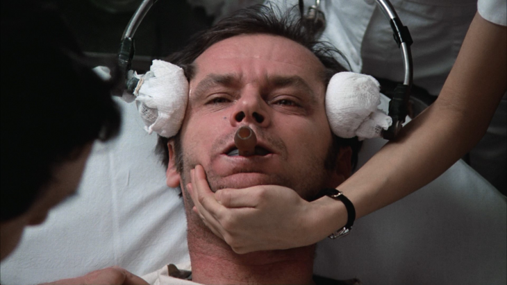 Jack Nicholson en one flew over the cuckoo's nest