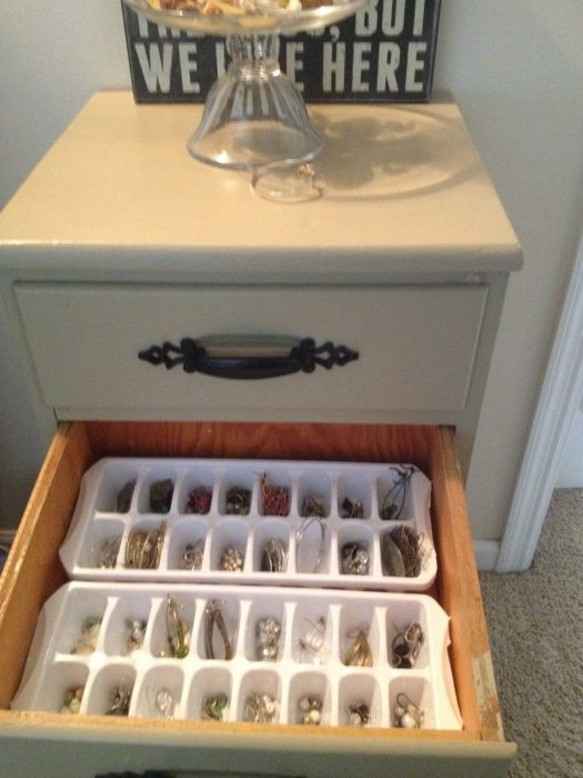joyería en moldes para cubos de hielo