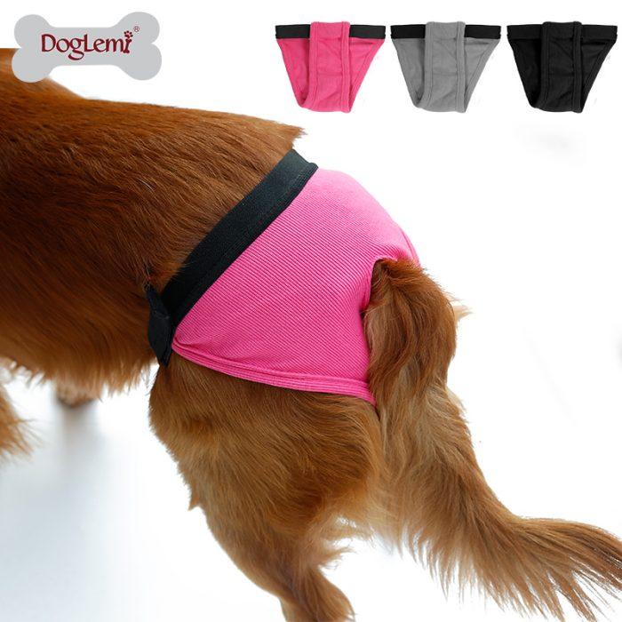 pañal para perro color rosa