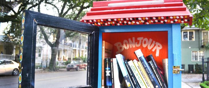 Librería gratuita en las calles