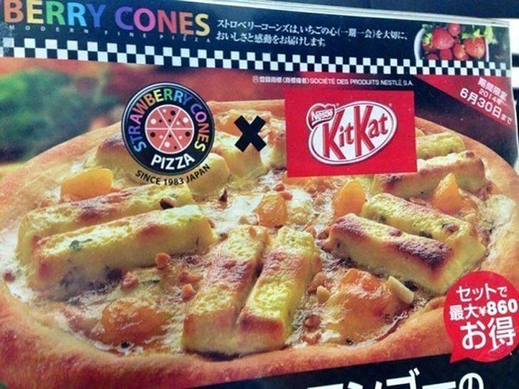 Pizza de Kit Kat