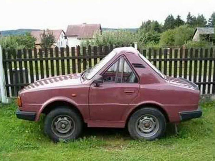 coche comprimido