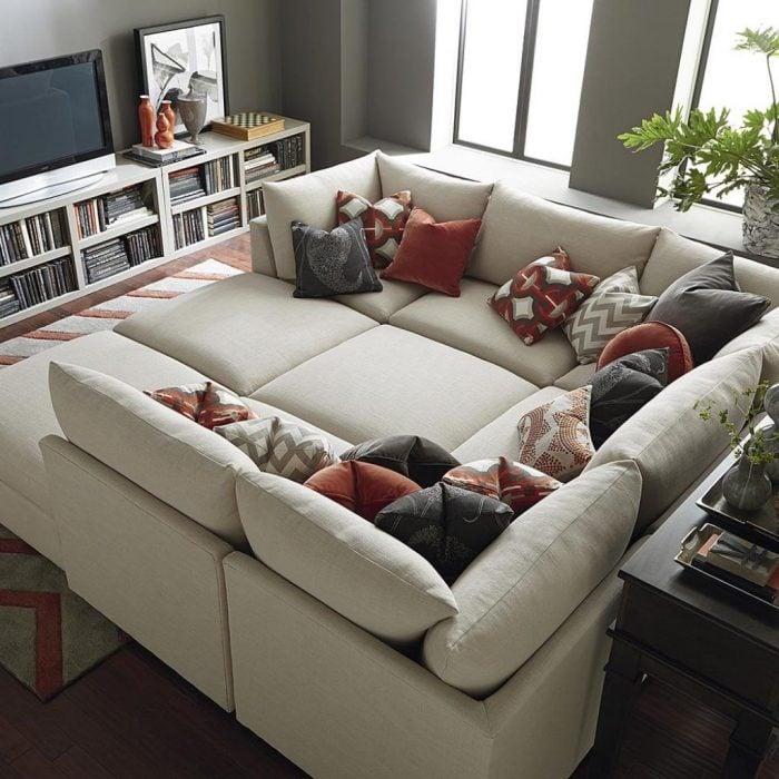 sillón para películas de color gris