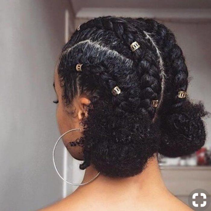 peinado trenzas y busn