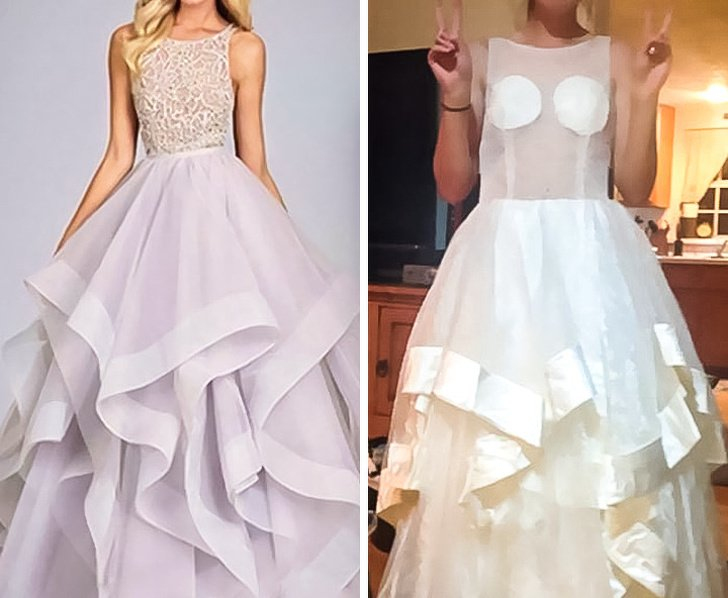 horribles vestidos de graduación