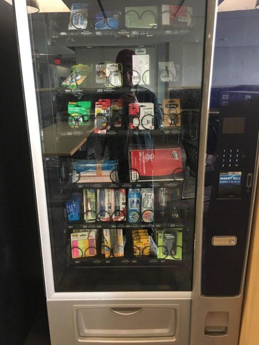 Máquina expendedora de útiles escolares