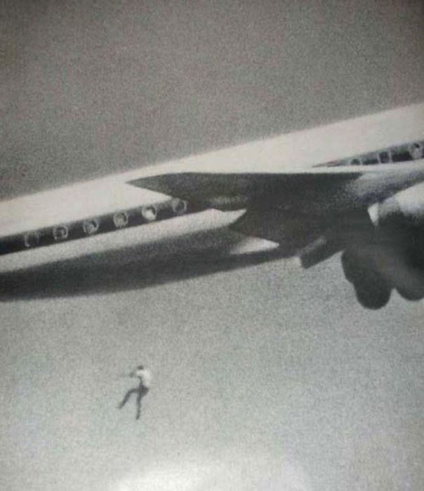 chico cae de un avión