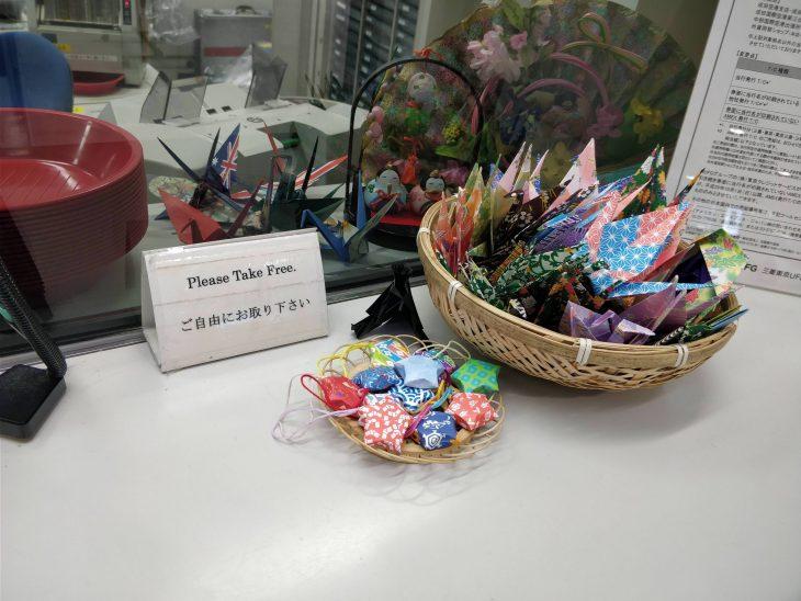 origami en lugar de dulces
