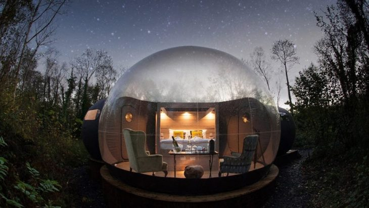 Habitación burbuja en Irlanda