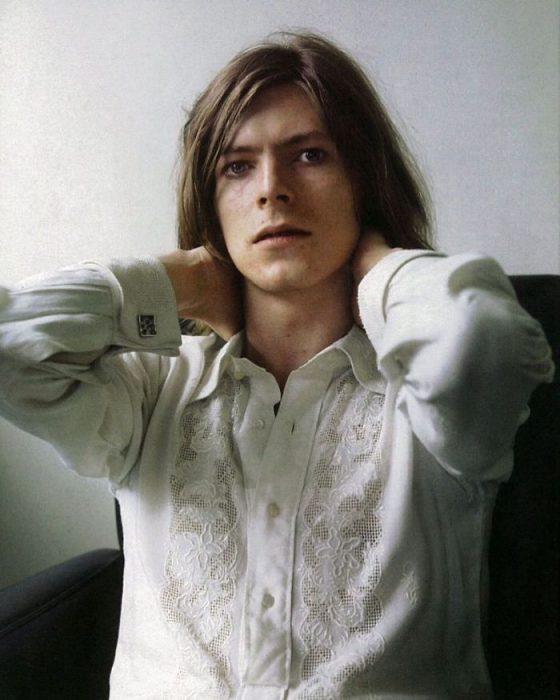 David Bowie en una sesión para su álbum Hunky Dory,
