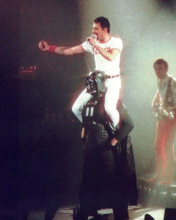 Freddie Mercury sobre Darth Vader, 1980
