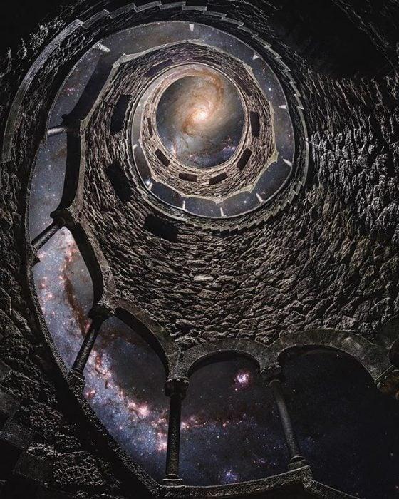 montaje de torre galáctica