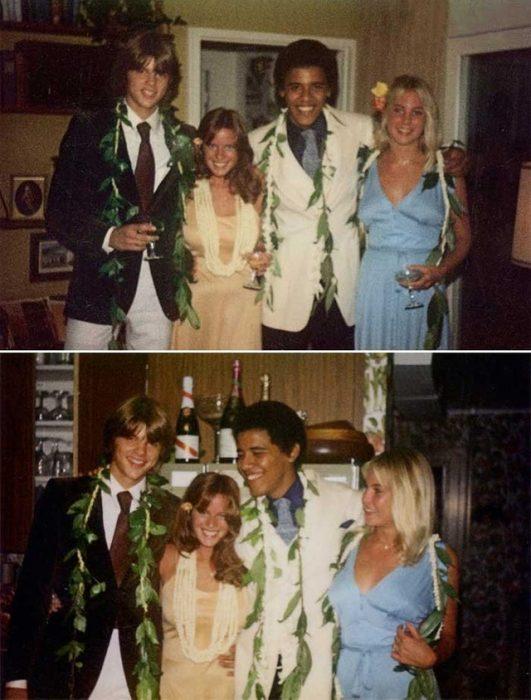 Barack Obama en su baile de graduación, 1979