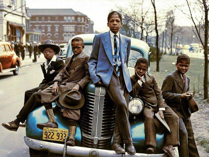 Chicos afroamericanos en Illinois, 1941
