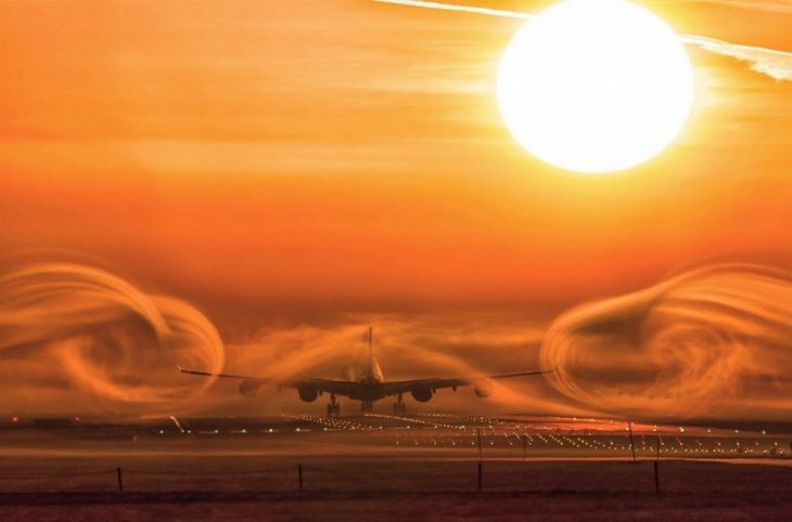 Despegue en la niebla, África