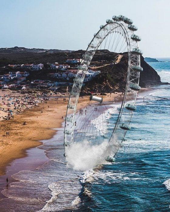 rueda de la fortuna en el mar