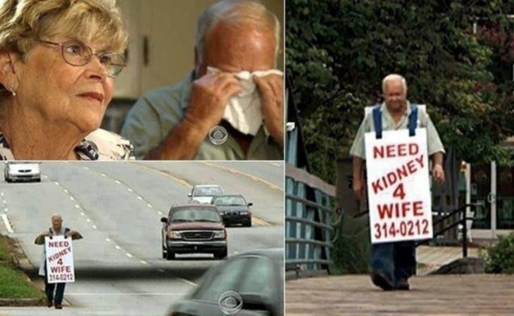 Hombre trata de encontrar un donador de riñón para su esposa
