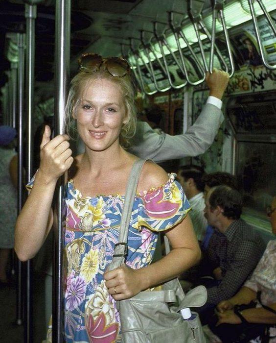 Meryl Streep en el metro, 1981