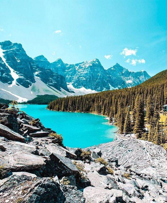 Lago Moraine, Alberta, Canadá